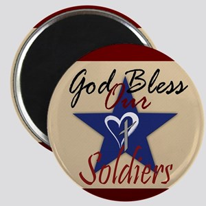 God Bless Soldiers Magnets