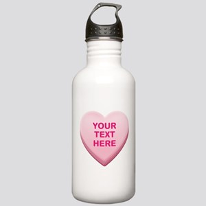 Pink Custom Candy Hear Stainless Water Bottle 1.0L