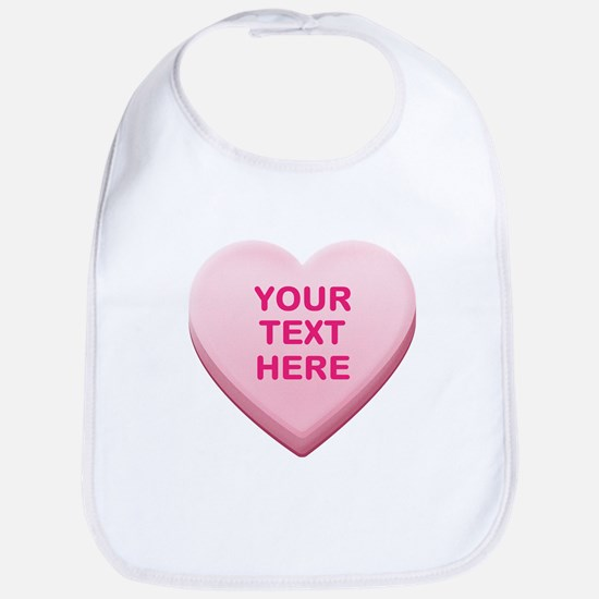 Pink Custom Candy Heart Bib