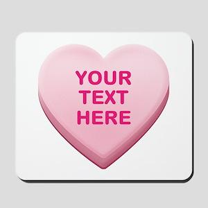 Pink Custom Candy Heart Mousepad
