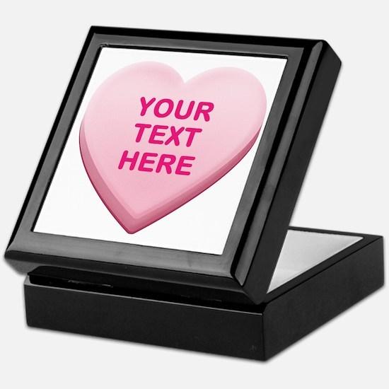 Pink Custom Candy Heart Keepsake Box