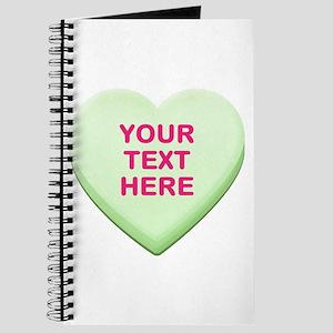 Green Custom Candy Heart Journal