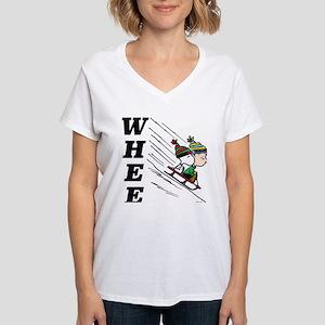 The Peanuts Gang: Winter Fu Women's V-Neck T-Shirt