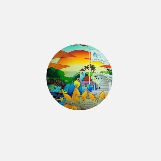 Cuban,West Coast Art Alex 7 Mini Button