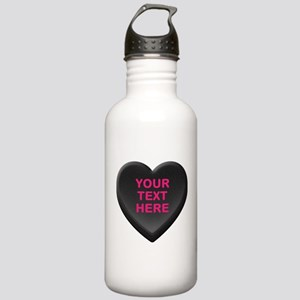 Black Custom Candy Hea Stainless Water Bottle 1.0L