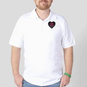 Black Custom Candy Heart Golf Shirt