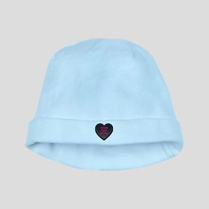 Black Custom Candy Heart baby hat