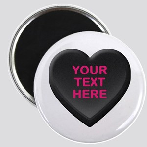 Black Custom Candy Heart Magnet