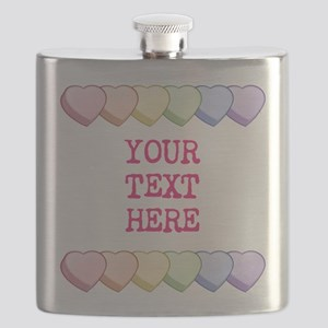 Custom Rainbow Candy Hearts Flask