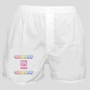 Custom Rainbow Candy Hearts Boxer Shorts