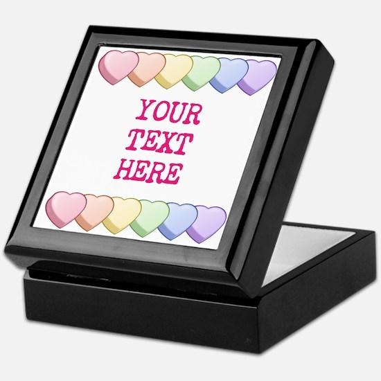 Custom Rainbow Candy Hearts Keepsake Box