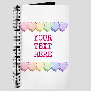 Custom Rainbow Candy Hearts Journal