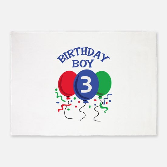 BIRTHDAY BOY THREE 5'x7'Area Rug