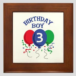 BIRTHDAY BOY THREE Framed Tile