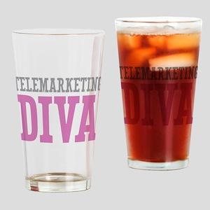 Telemarketing DIVA Drinking Glass
