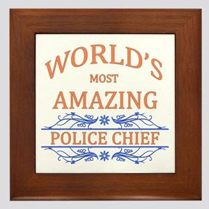Police Chief Framed Tile