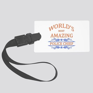 Police Chief Large Luggage Tag