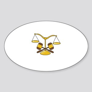 GAVELS AND SCALES Sticker