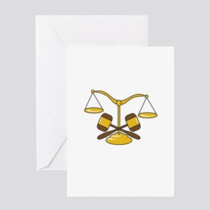 GAVELS AND SCALES Greeting Cards