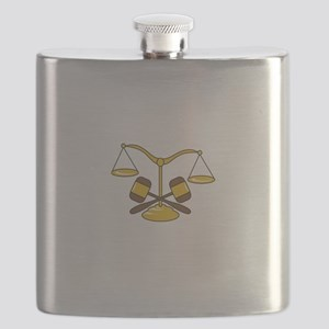 GAVELS AND SCALES Flask
