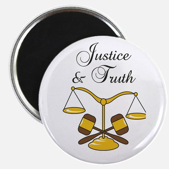 SCALES JUSTICE AND TRUTH Magnets