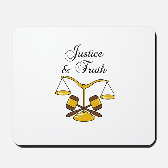 SCALES JUSTICE AND TRUTH Mousepad