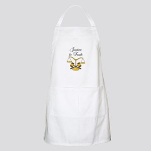 SCALES JUSTICE AND TRUTH Apron