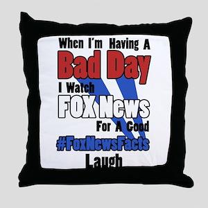 #FoxNewsFacts (Light) Throw Pillow
