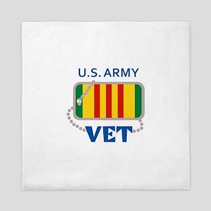 U S ARMY VET Queen Duvet