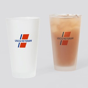 COAST GUARD VETERAN Drinking Glass