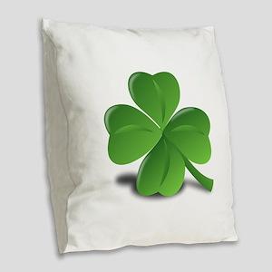 Shamrock Burlap Throw Pillow