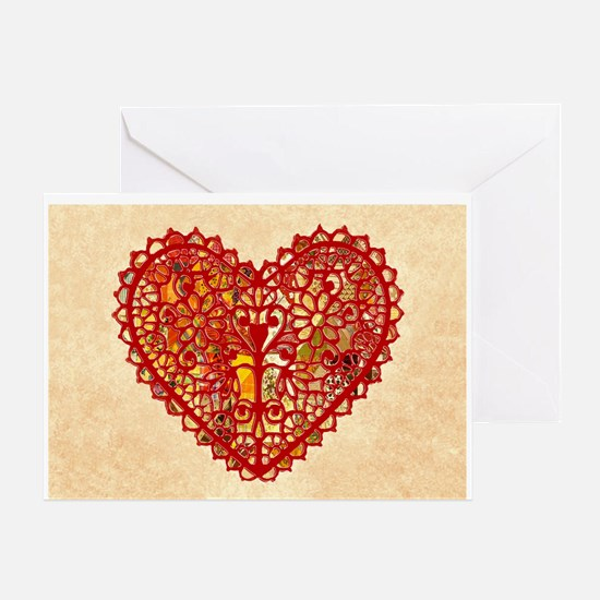 Old Fashioned Heart Valentine Greeting Cards