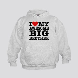 I Love My Awesome Big Brother Kids Hoodie