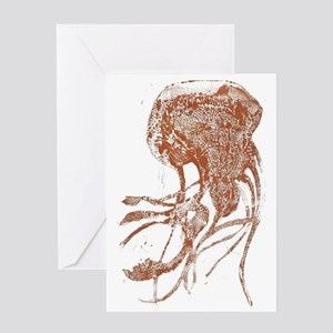 Claire Corey Copper Jellyfish Collec Greeting Card