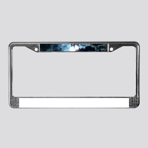 Moon through the trees. License Plate Frame