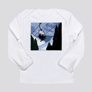 Chairlift Full of Skiers Long Sleeve T-Shirt