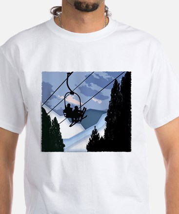 Chairlift Full of Skiers T-Shirt