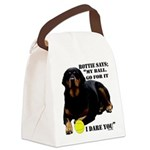 Rottie Says My Ball Canvas Lunch Bag