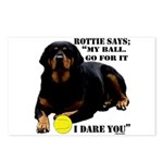 Rottie Says My Ball Postcards (Package of 8)