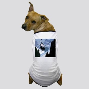Chairlift Full of Skiers Dog T-Shirt