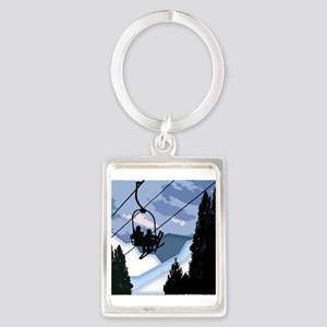 Chairlift Full of Skiers Keychains