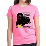 Rottie Says My Ball Women's Dark T-Shirt