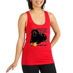 Rottie Says My Ball Racerback Tank Top
