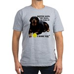 Rottie Says My Ball Men's Fitted T-Shirt (dark)