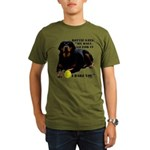 Rottie Says My Ball Organic Men's T-Shirt (dark)