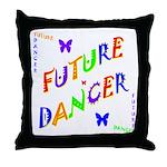 Future Dancer Kids Throw Pillow
