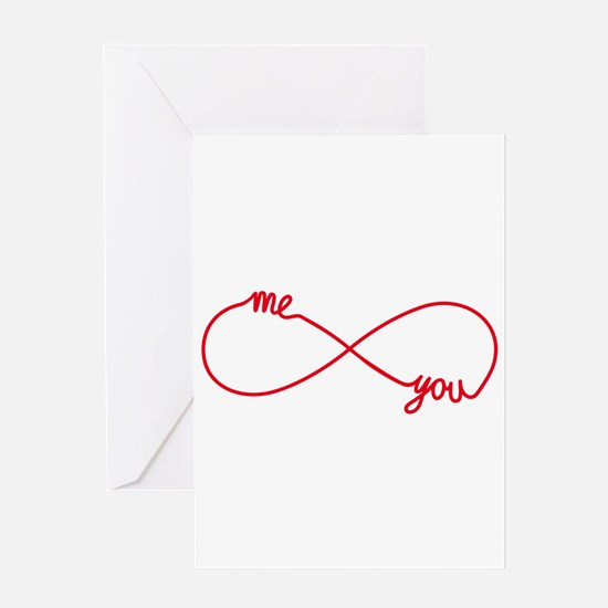 You and me together forever Greeting Cards