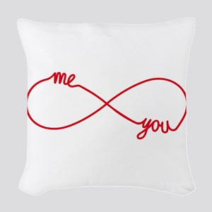 You and me together forever Woven Throw Pillow