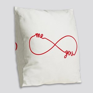 You and me together forever Burlap Throw Pillow