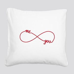 You and me together forever Square Canvas Pillow